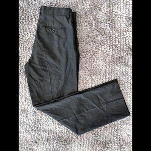 J.Crew Men's Charcoal 100% Wool Slacks, Size 31